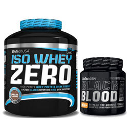 BioTech Black Blood Limited 300g + Iso Whey Zero 2270g