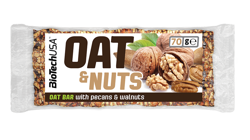 BioTech Oat and Fruits Bar 70g Nuts and Pecan