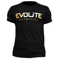 Evolite T-shirt Gold on Black L